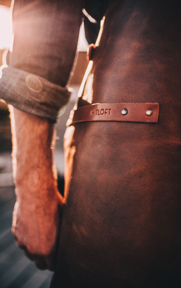 WITLOFT Countryside Story Customized leather apron