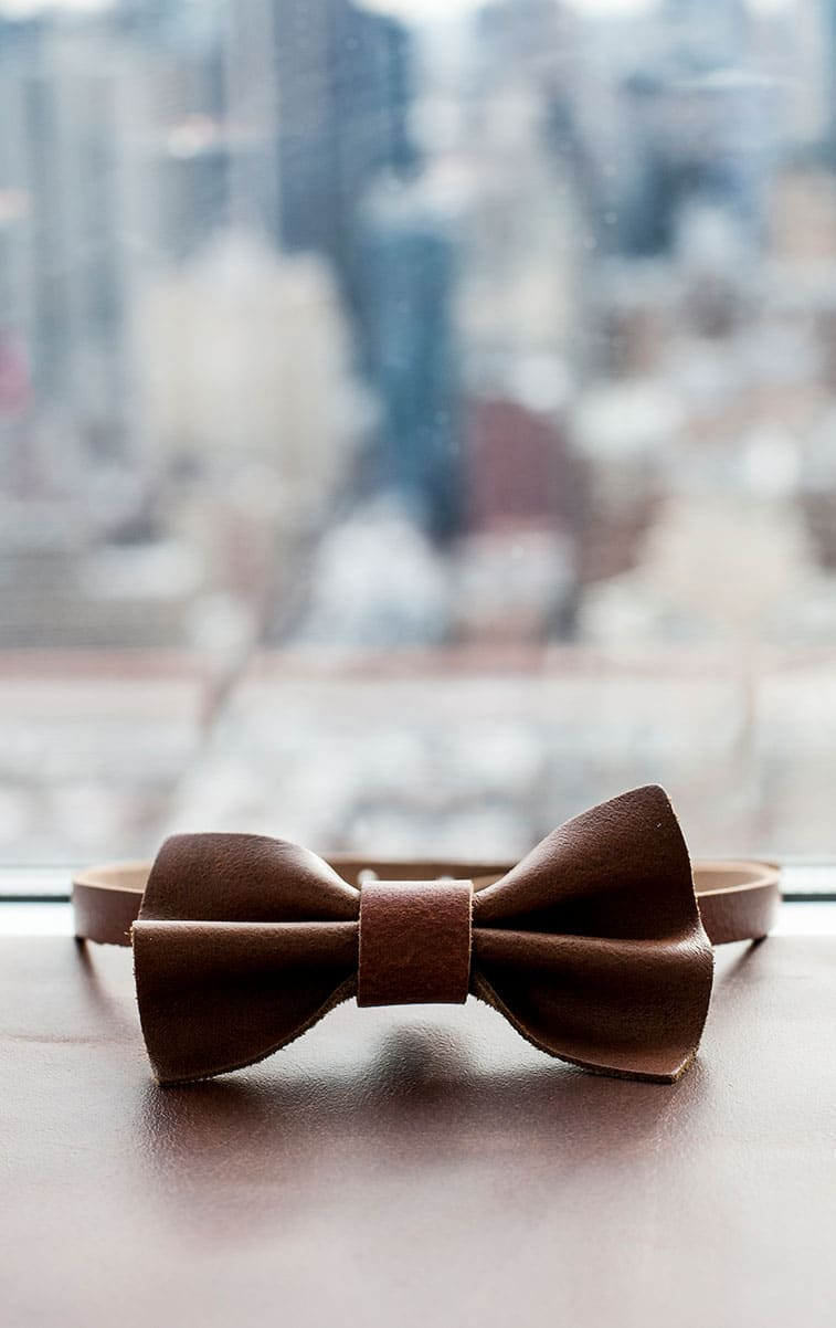 WITLOFT Penthouse in NYC Story leather bowtie