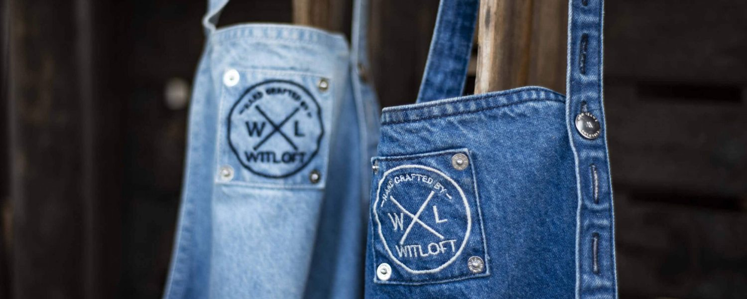 witloft denim aprons blue