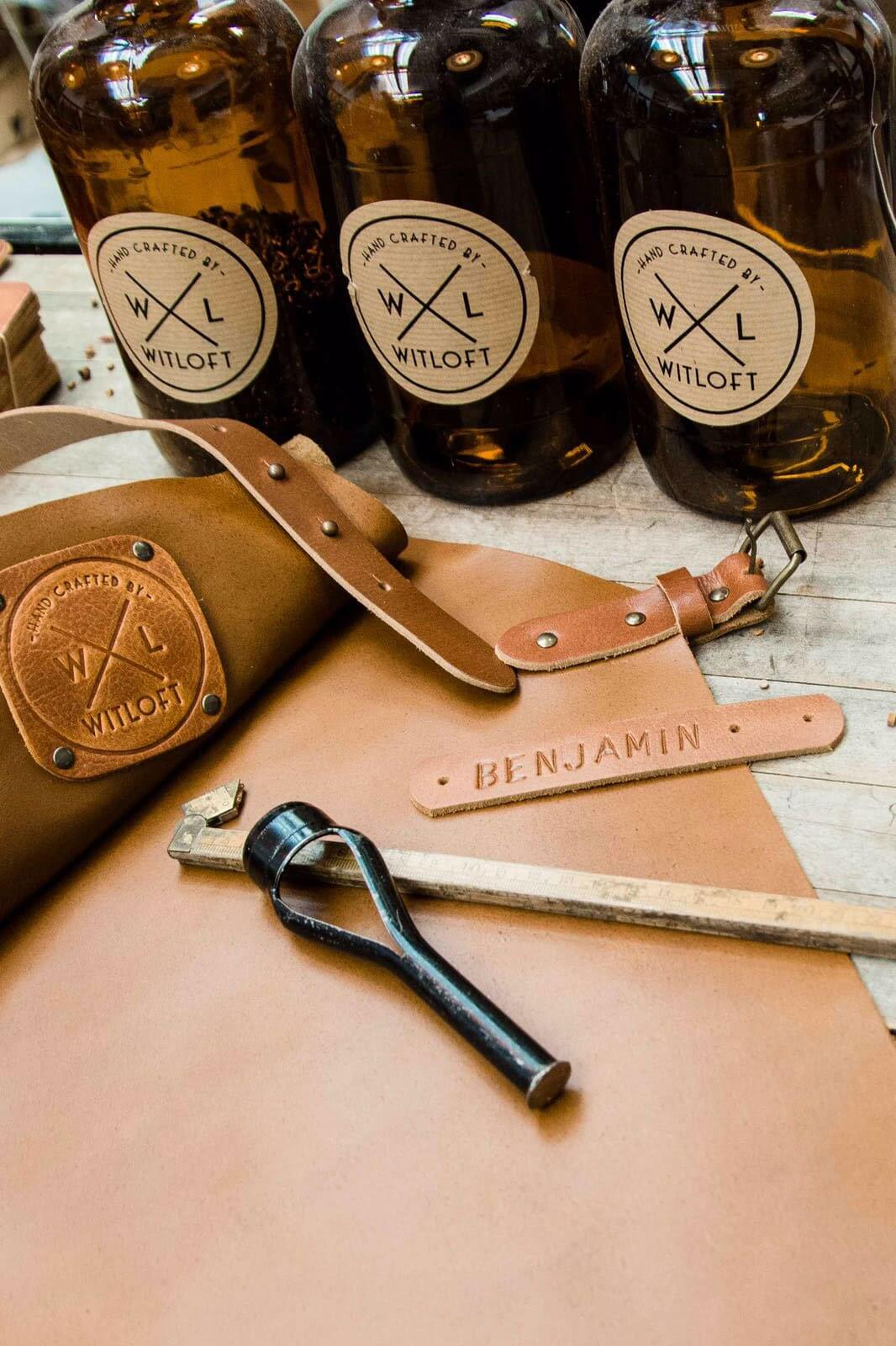 personalize your apron or knife roll