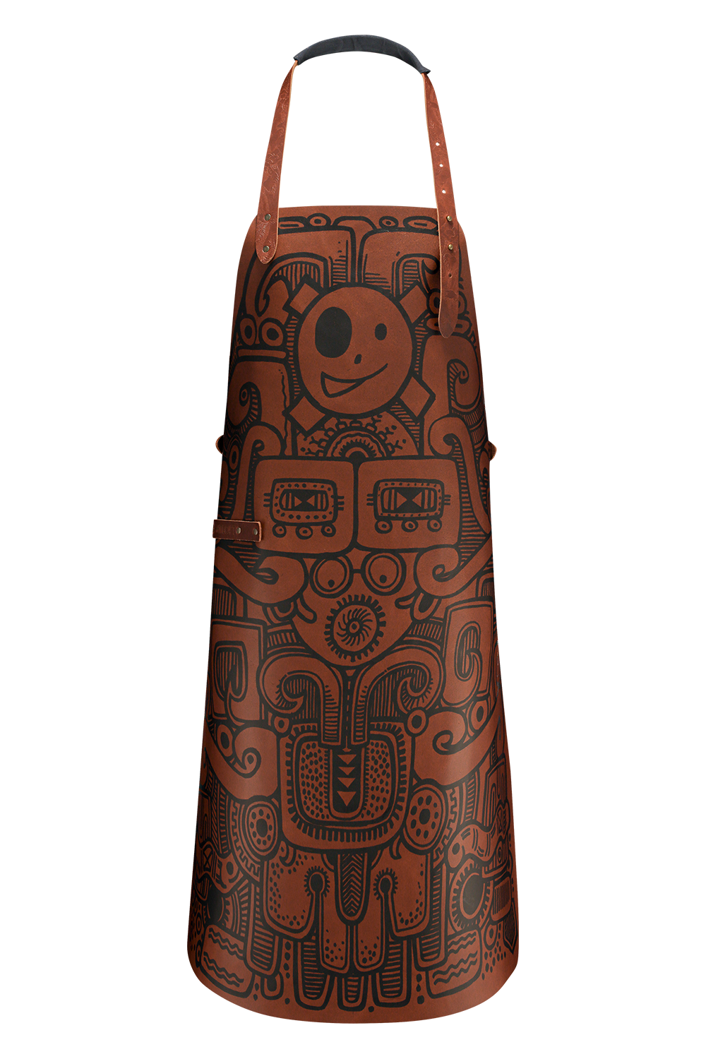 leather apron barbacoa design